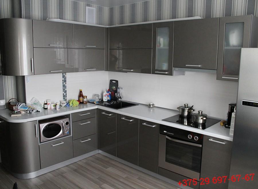 Кухня из МДФ крашеного №03
